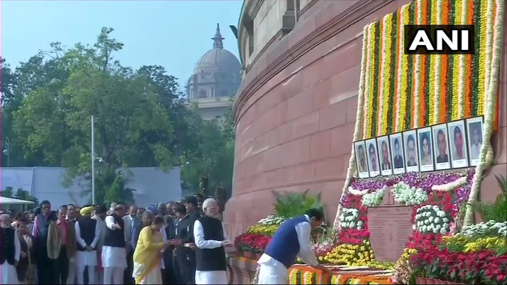 Parliament, Parliament attacks, 2001 Parliament attacks, Tribute, martyrs