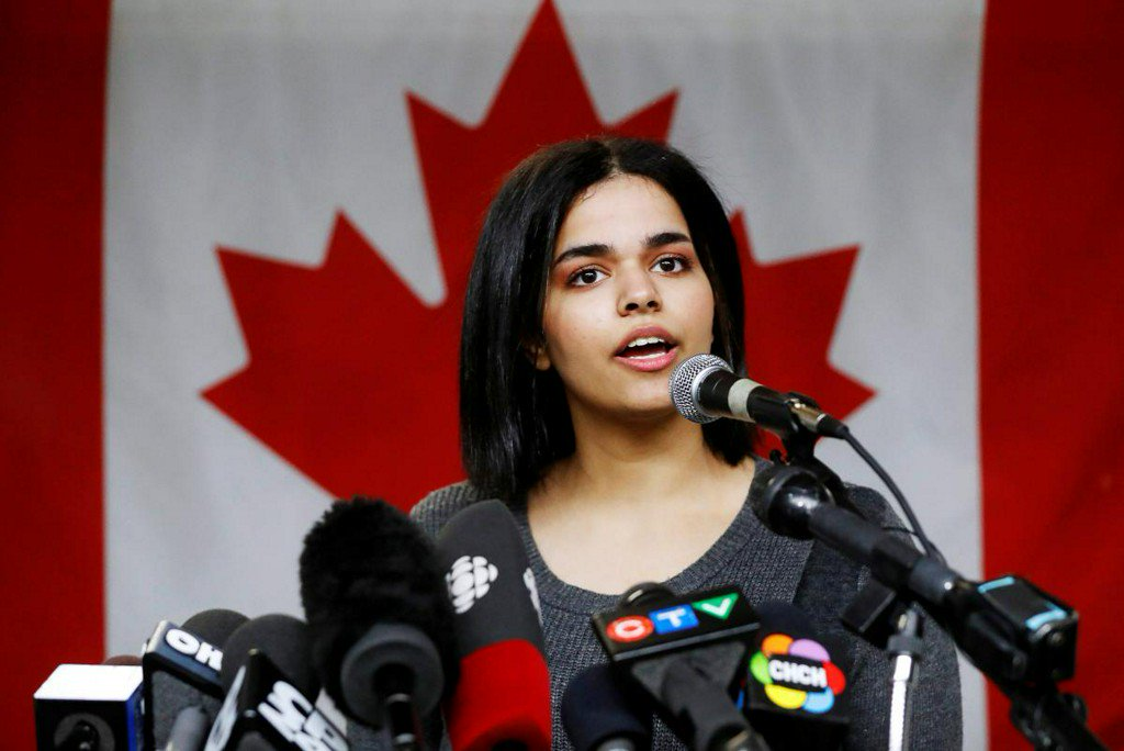 Saudi, teen, granted, asylum, Canada, Rahaf Mohammed, Thailand, Bangkok, World, NewsMobile, Mobile, News, India