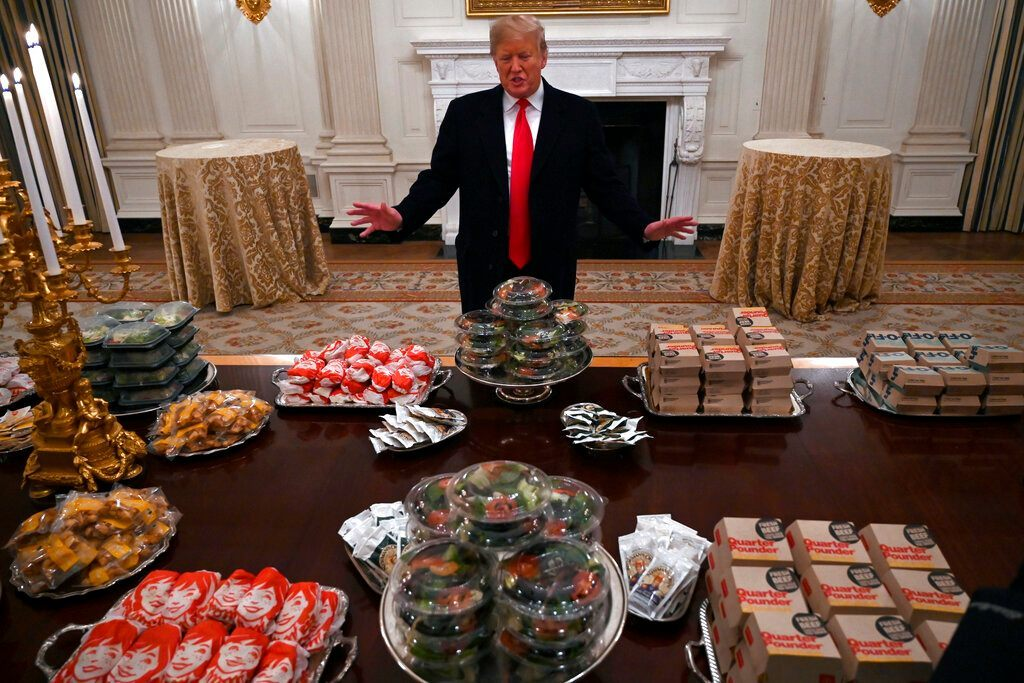 US government shutdown, President, Donald Trump, United States, Football, burgers, fries, pizzas, NewsMobile, Mobile, News, India, World