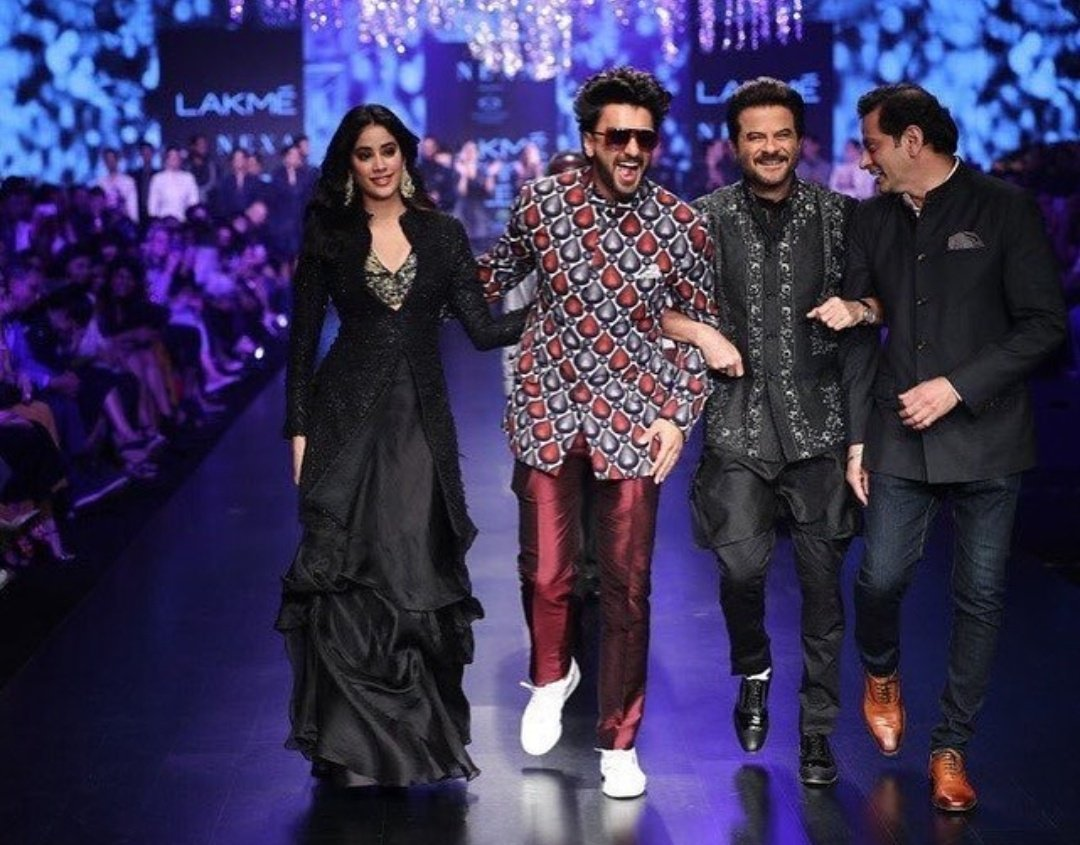 Anil Kapoor, Ranveer Singh, Jahnvi Kapoor at Lakme Fashion Week 2019