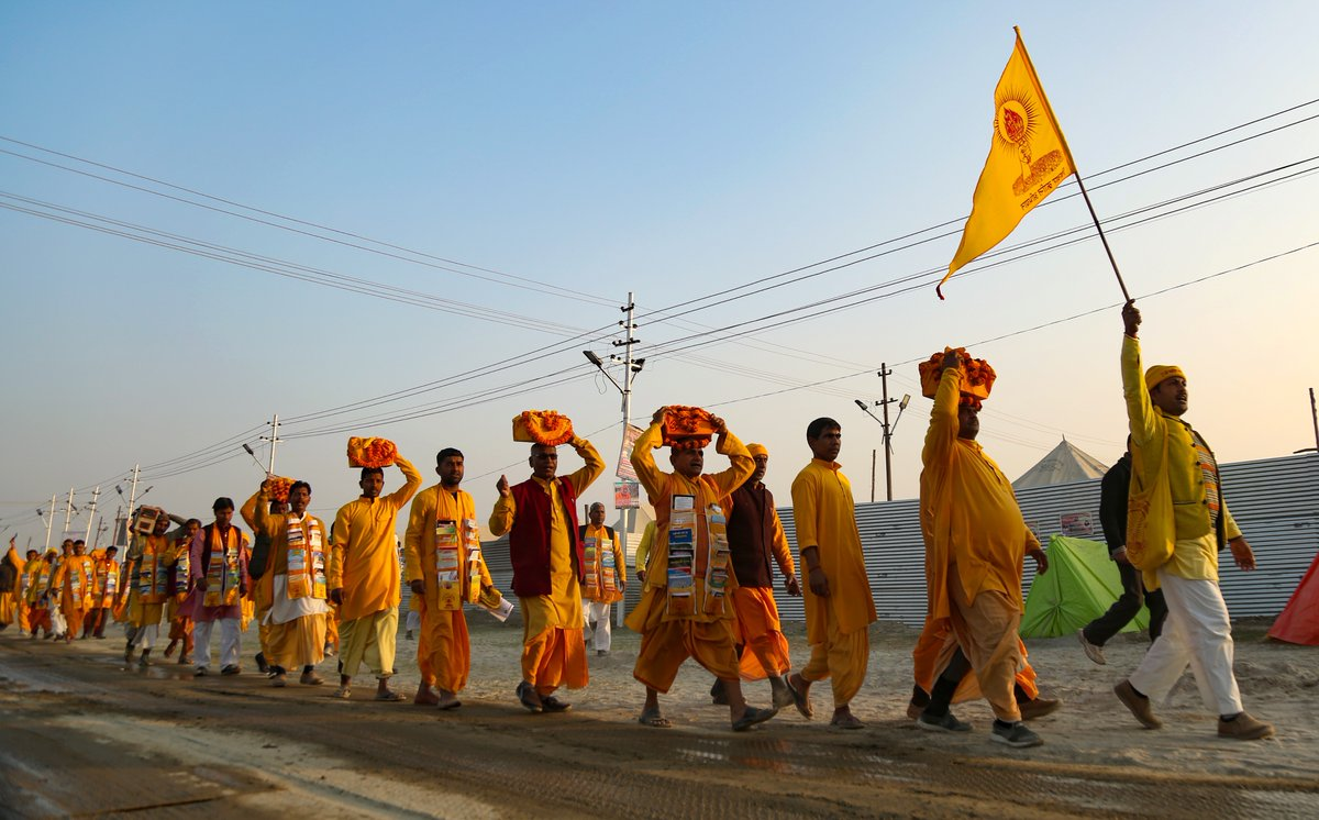 In Pictures: Devotees take a dip on Maghi Purnima at Kumbh 2019