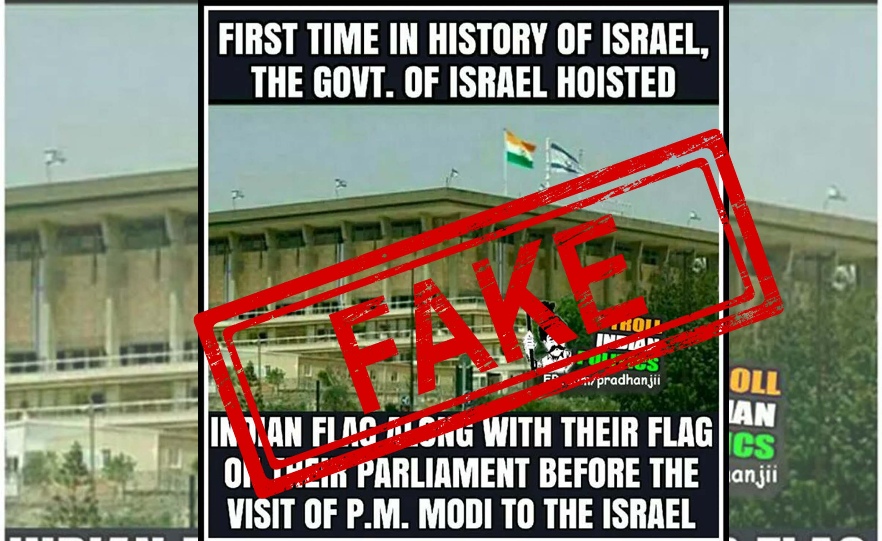 Israel, Parliament, Indian, Flag, India, NewsMobile, Mobile, News, India, Fact Check, Fact Checker, Fake, News