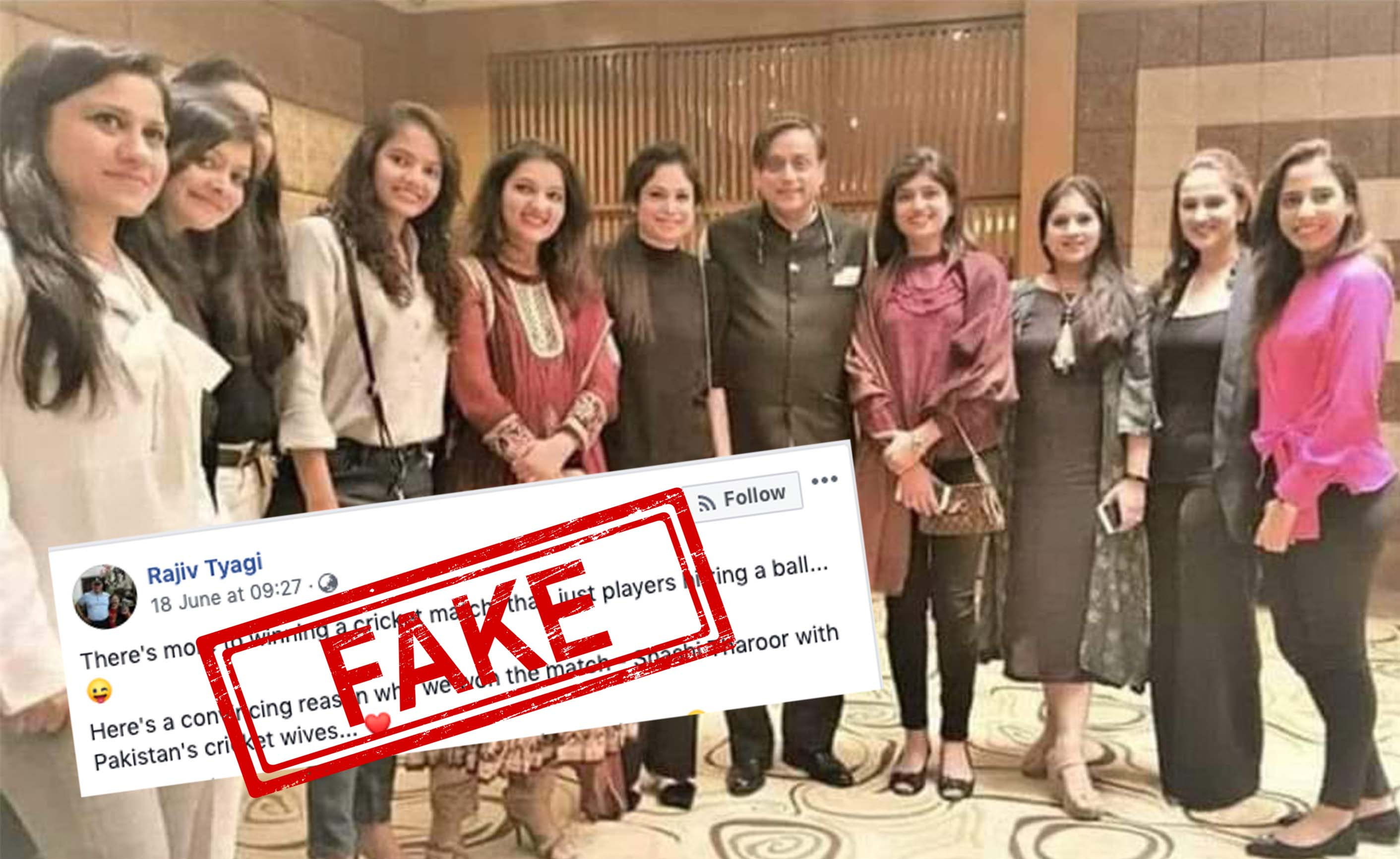 Shashi Tharoor, MP, Lok Sabha, Congress, Pakistani, Cricketers, Sports, ICC, Wives, NewsMobile, Mobile, News, India, Fact Checker, Fact Check, FAKE