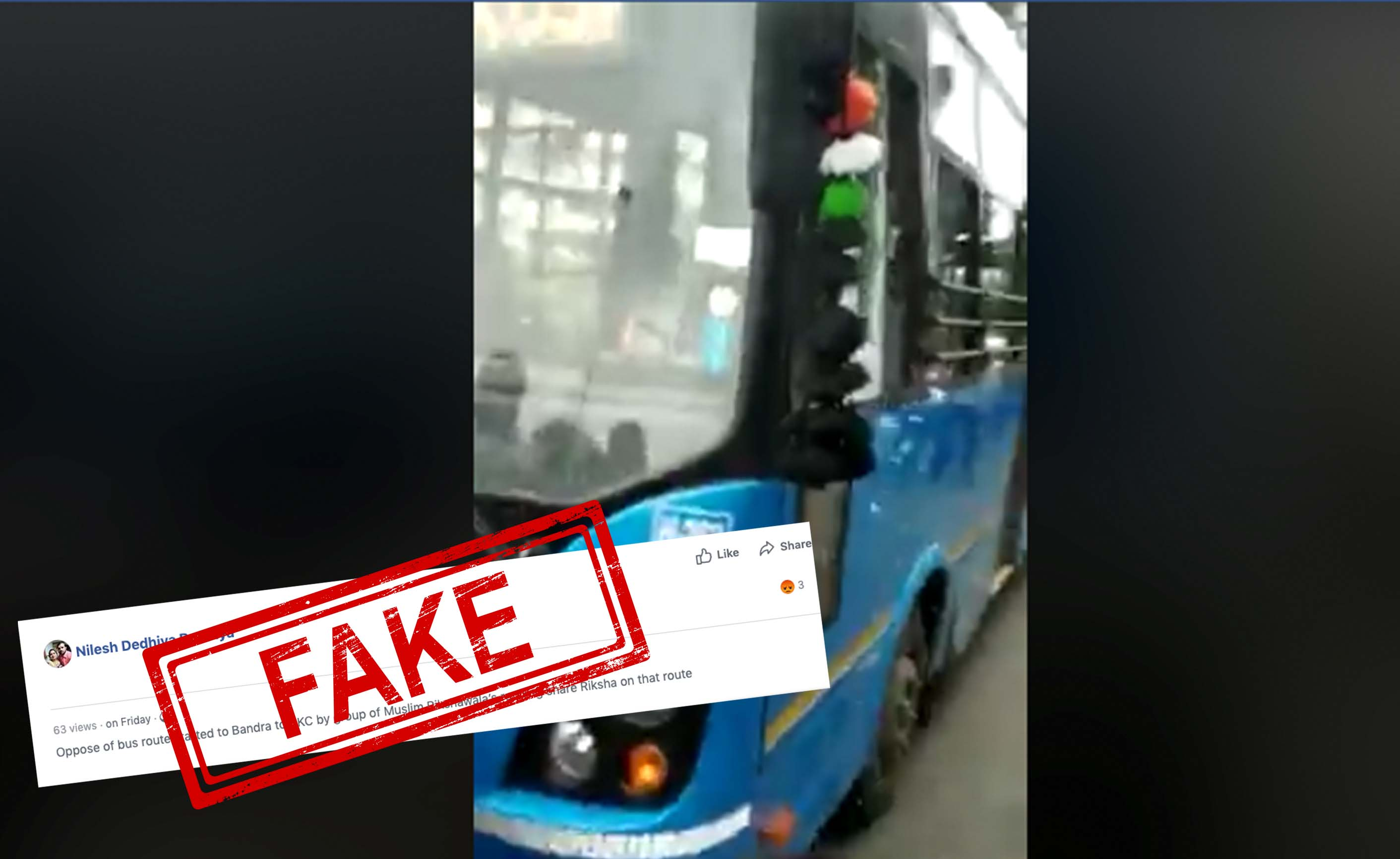 vandalise, Bus, Mumbai, Gujarat, Surat, Video, Mob, FAKE, Fact Check, Fact Checker, NewsMobile, Mobile, News, India