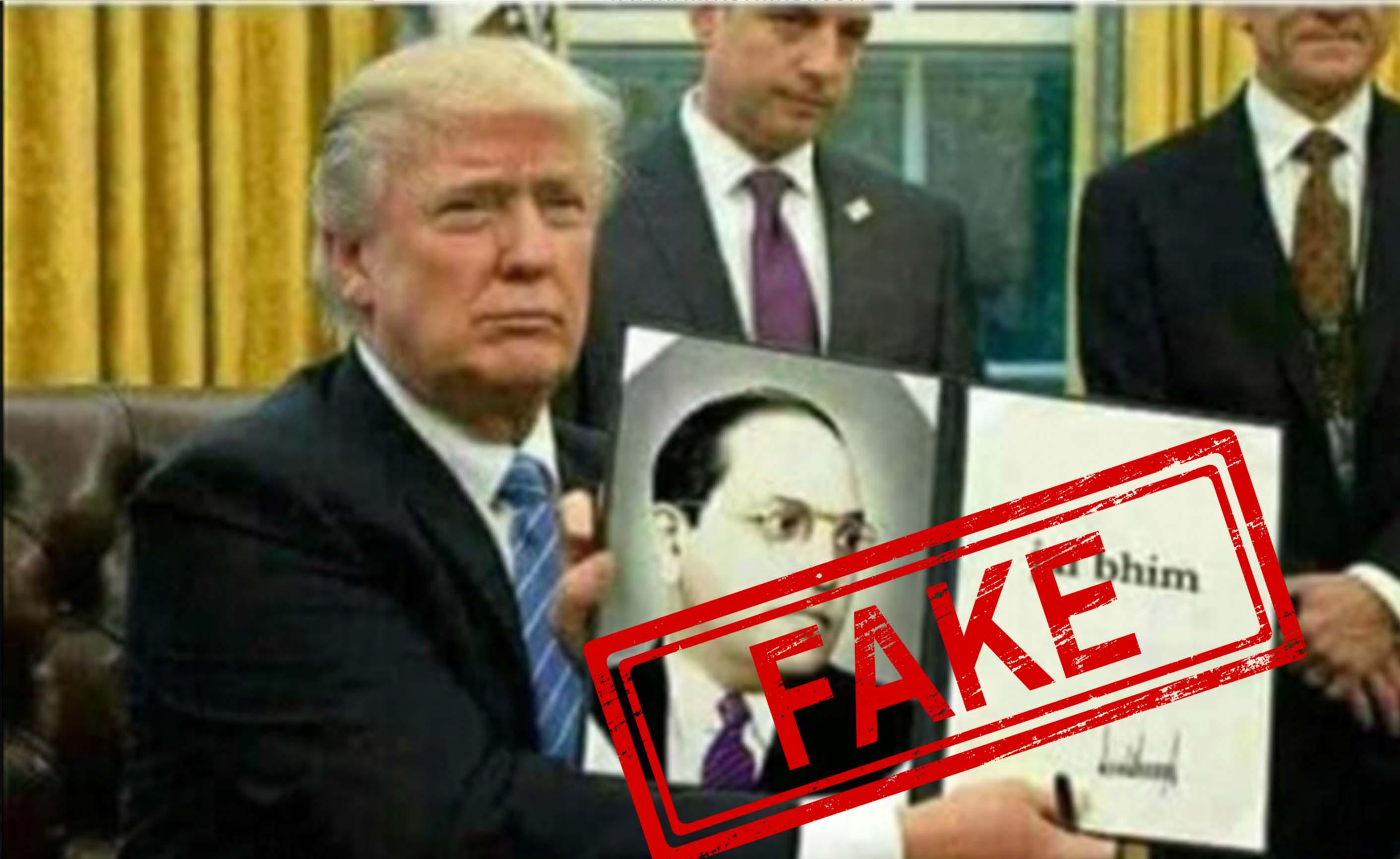 BR Ambedkar, Constitution, US, President, Donald Trump, NewsMobile, Mobile, News, India, World, Fact Check, Fact Checker, FAKE