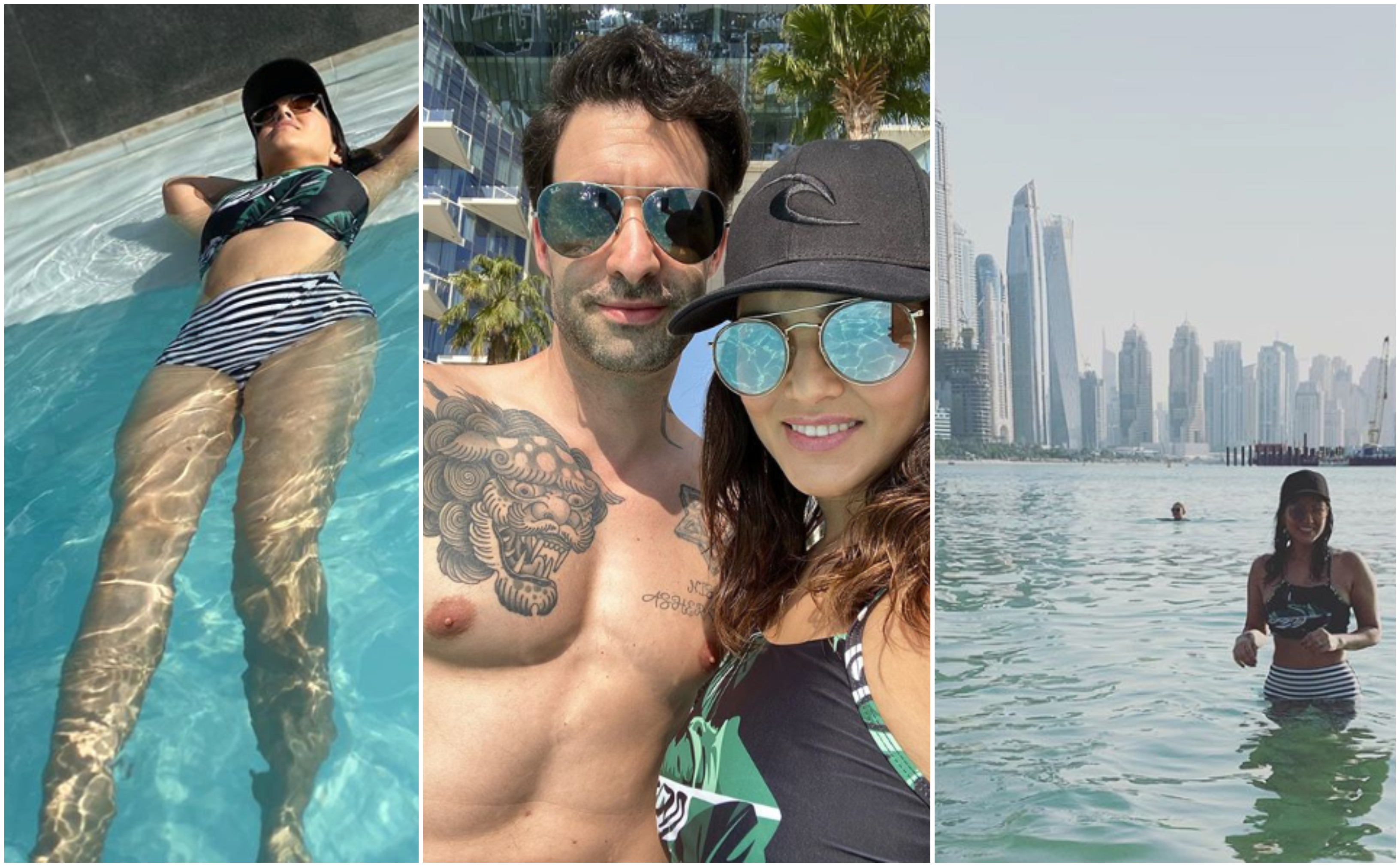 Image result for latest images of sunny leone with her husband daniel in dubai