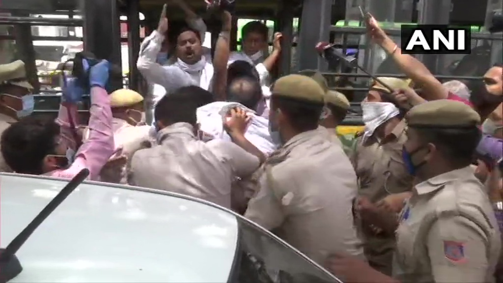 Petrol hike protest